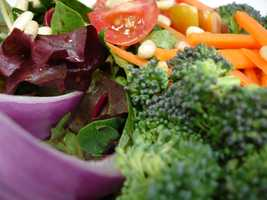 Generally the healthiest diet to protect against breast cancer is one that is low in saturated fat and is more vegetable-based. Look at your plate by dividing it into three parts. Half the plate should be fruits and vegetables of quarter approaching a quarter grains.