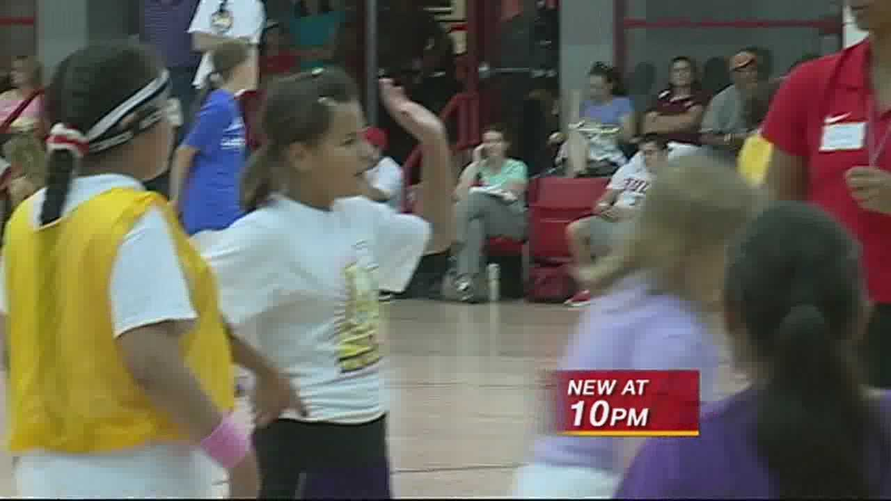 The UNM women's basketball team is holding it's annual youth camp.