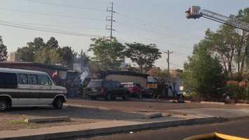 See photos of a Thursday morning house fire in northeast Albuquerque.