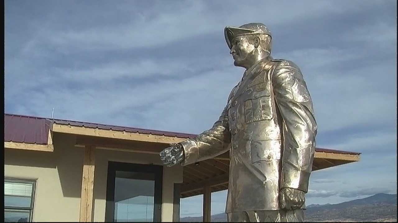 A New Mexico hero now has a permanent place in his hometown of Santa Fe. A reminder of his brave, selfless actions that earned him the Medal of Honor the highest military distinction.