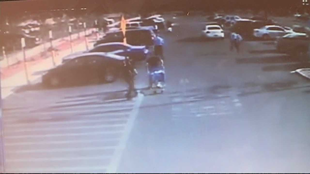 Two thieves threatened a Walmart security guard with a knife recently, and the whole incident was caught on camera.