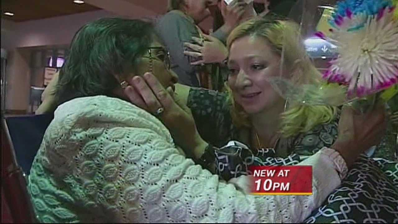 FTER BEING SEPARATED FOR 40 YEARS, A MOTHER AND DAUGHTER WERE FINALLY REUNITED TONIGHT.