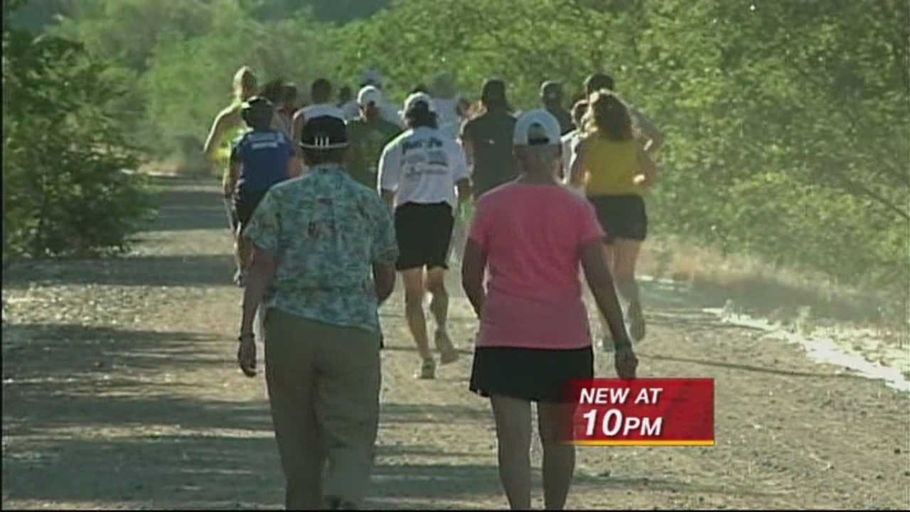 Take back the trail! Runners made that rally cry along the Bosque today. Almost a week after a woman was sexually assaulted on a levee road.