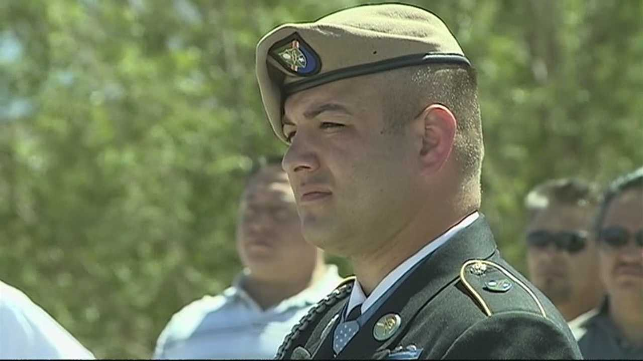 Former Medal of Honor recipient honored with statue, bridge