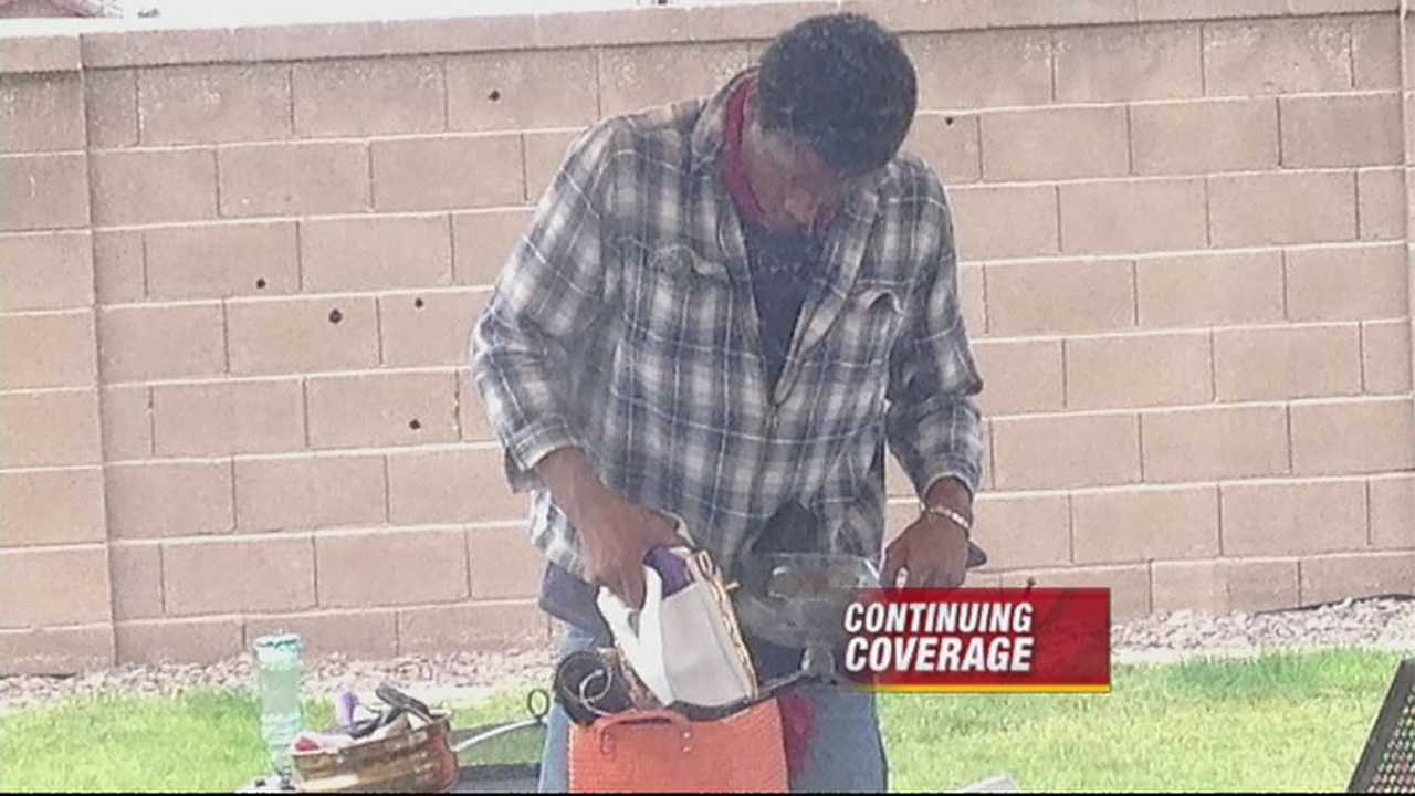 Ronnie Daniels' neighbors say they caught him trying to break into a garage Sunday morning.