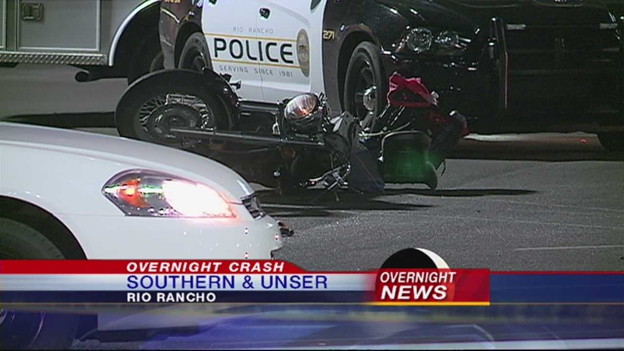 A motorcyclist is airlifted to the hospital after a serious crash. It happened just after 12:30 am at Southern and Unser.
