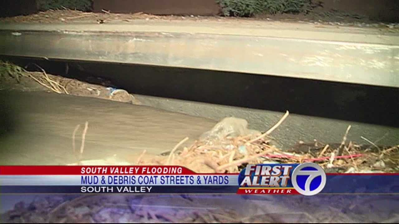 Rain Causes Flooding in the South Valley