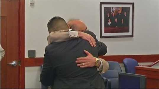The not guilty verdict is read in open court. CLICK HERE TO WATCH
