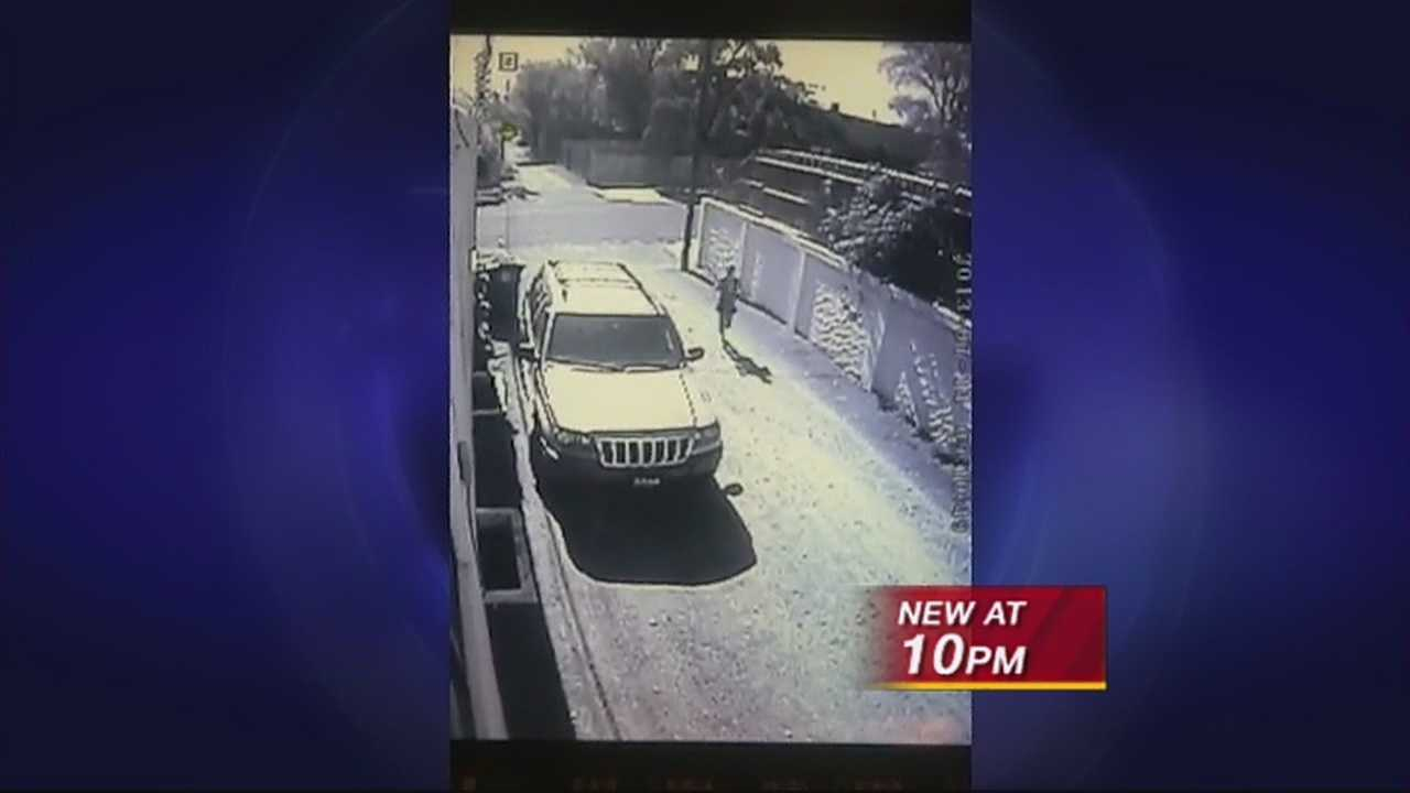 A woman caught on security camera relieving herself next to a house in nob hill and it's not the first time.