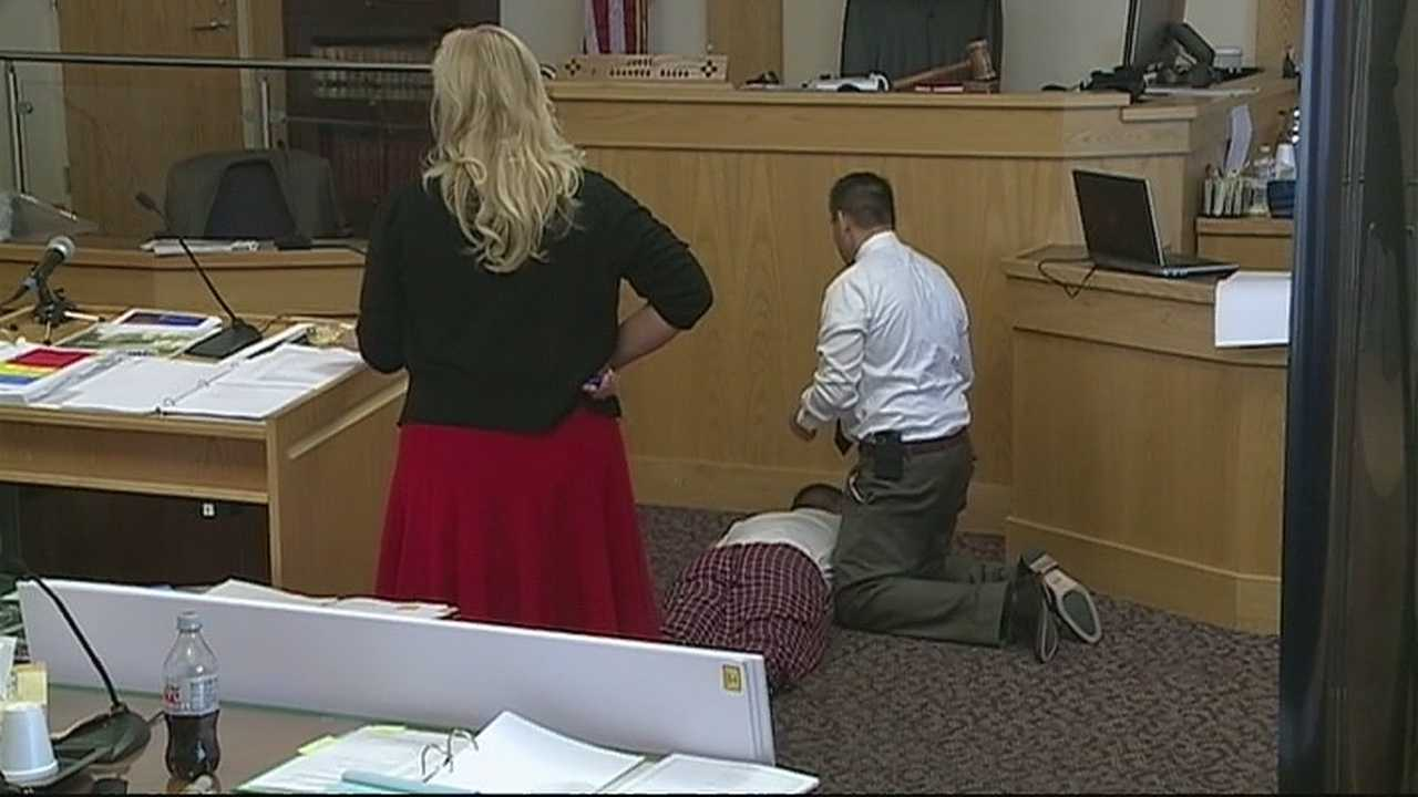 The moment Albuquerque police scuffled with a mentally ill man and then shot and killed him played out in dramatic testimony Monday.