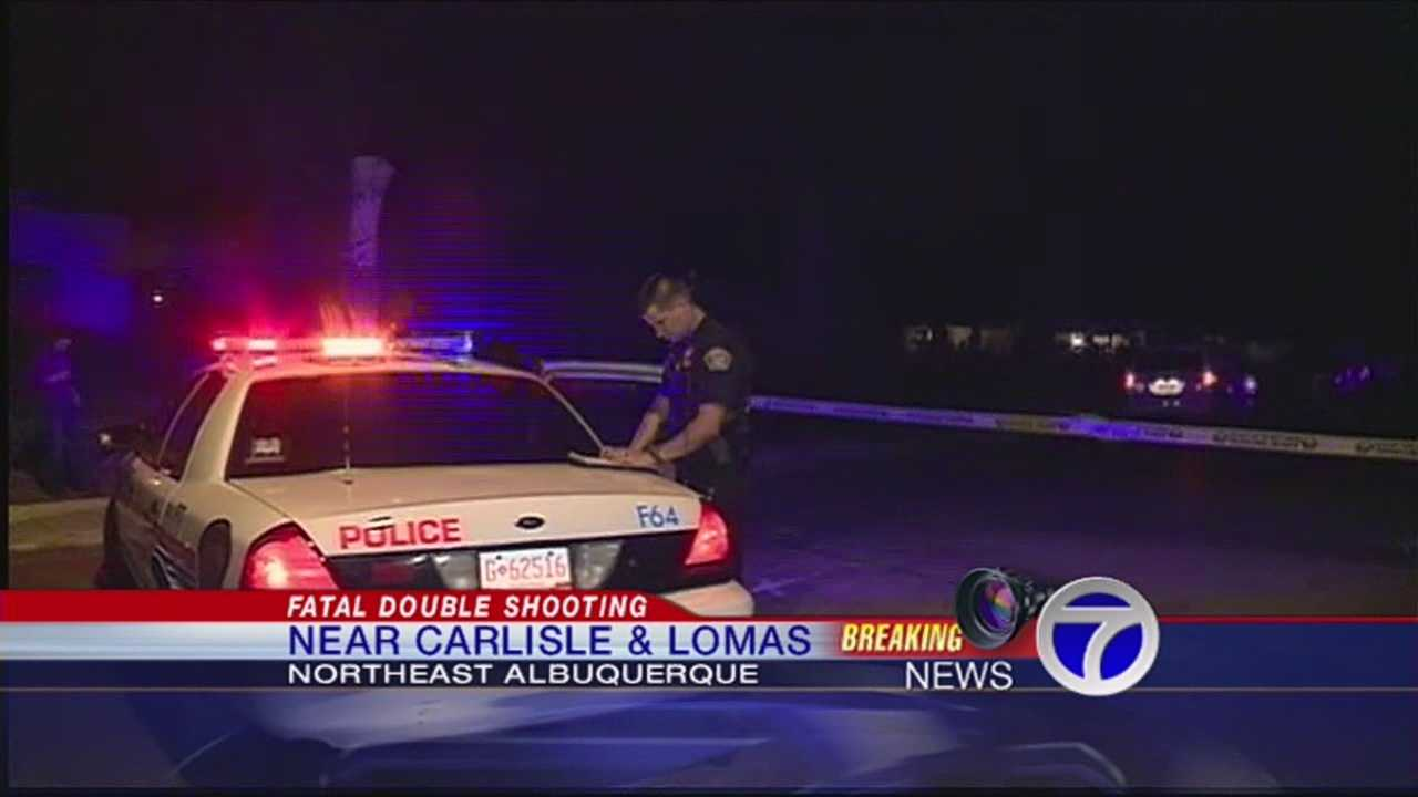 Two people were pronounced dead in Albuquerque on Wednesday night, both the victims of an apparent shooting, police said.