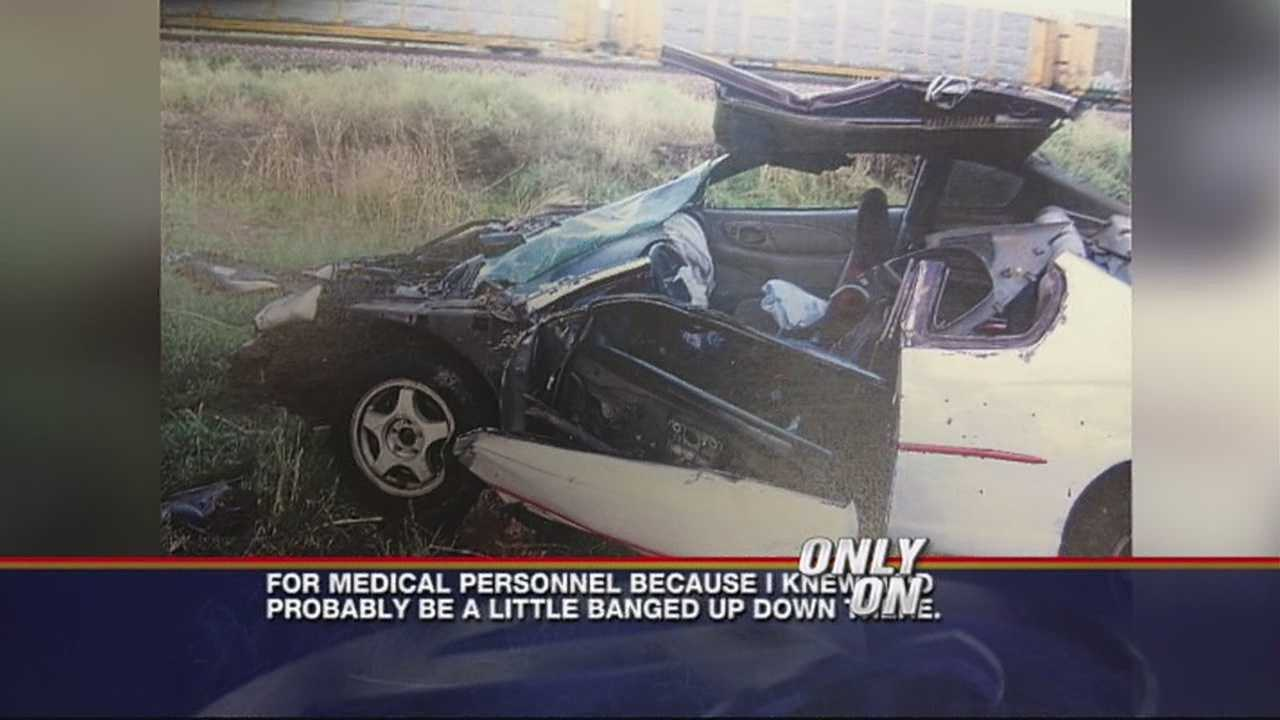 Driver careens off cliff during car chase