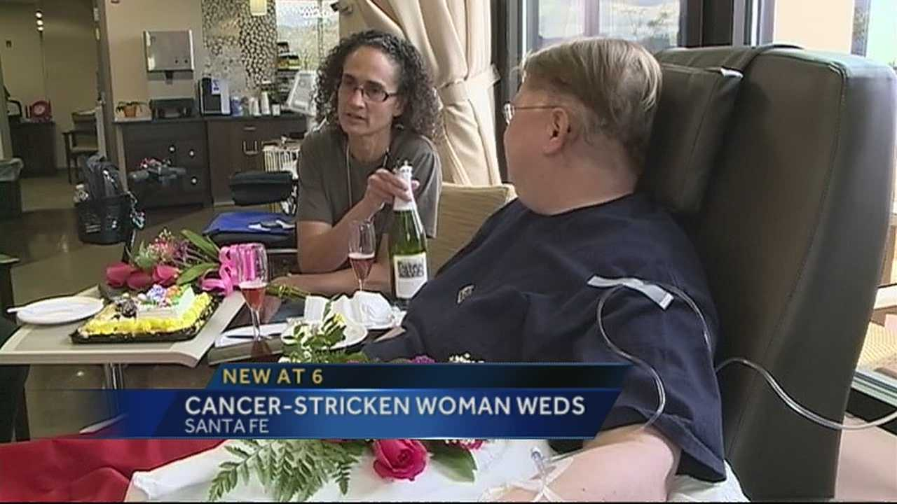 img-NM woman with brain cancer marries partner of 20 years