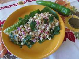 Harvest Green Chile Corn Salad by u local member White Mesa. CLICK HERE to see the recipe.