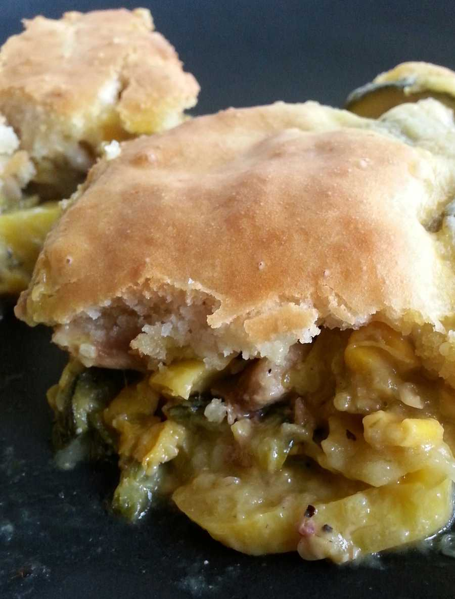 Chicken Calabacitas Pot Pie by u local user sheilacal. CLICK HERE to see the recipe.