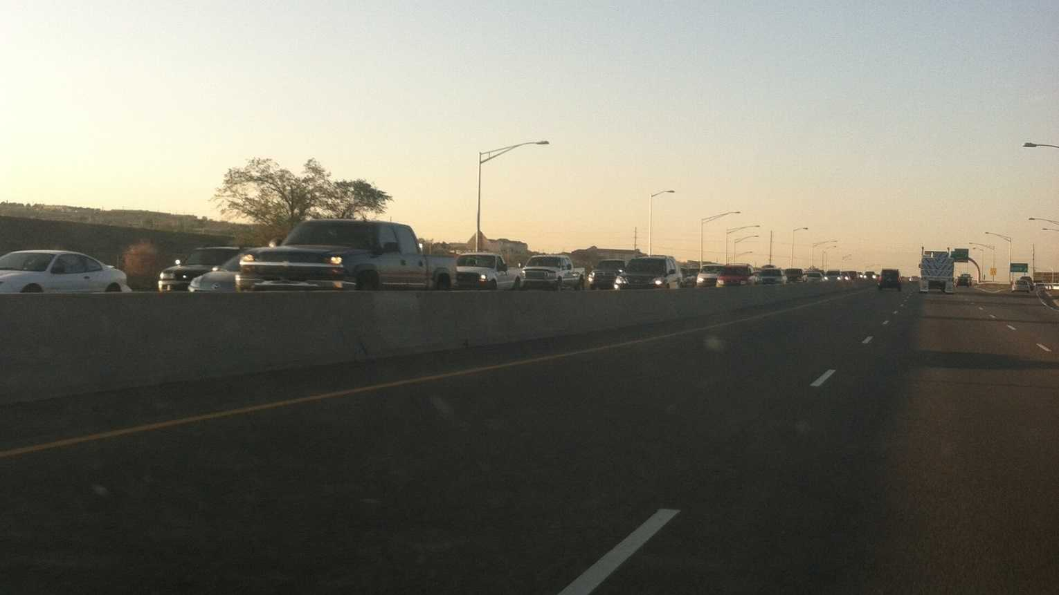 Morning crash slows northbound I-25 near MLK exit