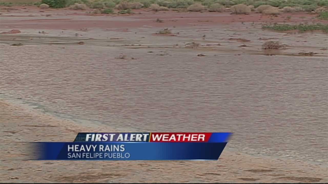 The water level at a dam near San Felipe Pueblo got so high during recent storms, officials had to evacuate homes.