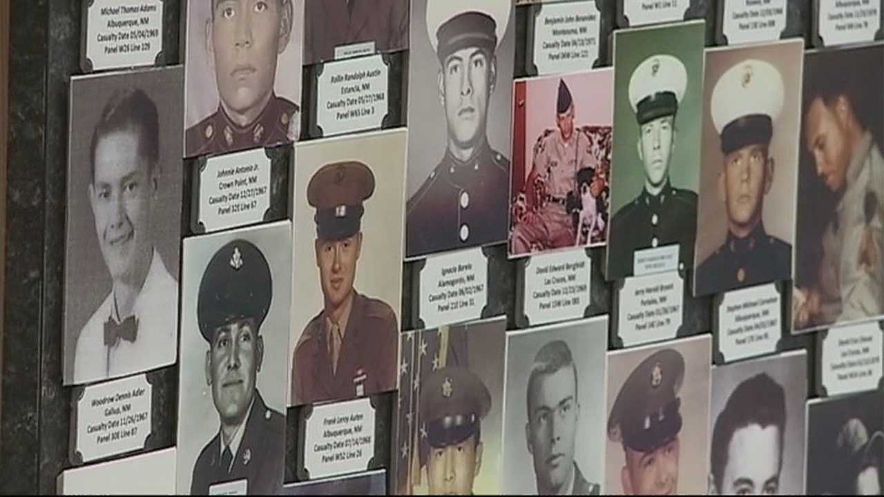 An emotional ceremony dedicated a new memorial that has pictures of nearly all the men and women who made the ultimate sacrifice in southeast Asia.
