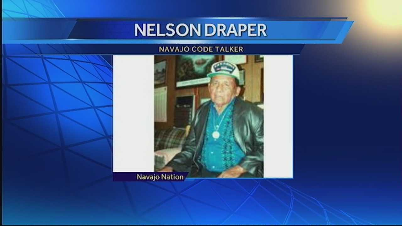 The number of Navajo Code Talkers decreased by one with the death of Nelson Draper as the race to document the story of these heroes pushes on.