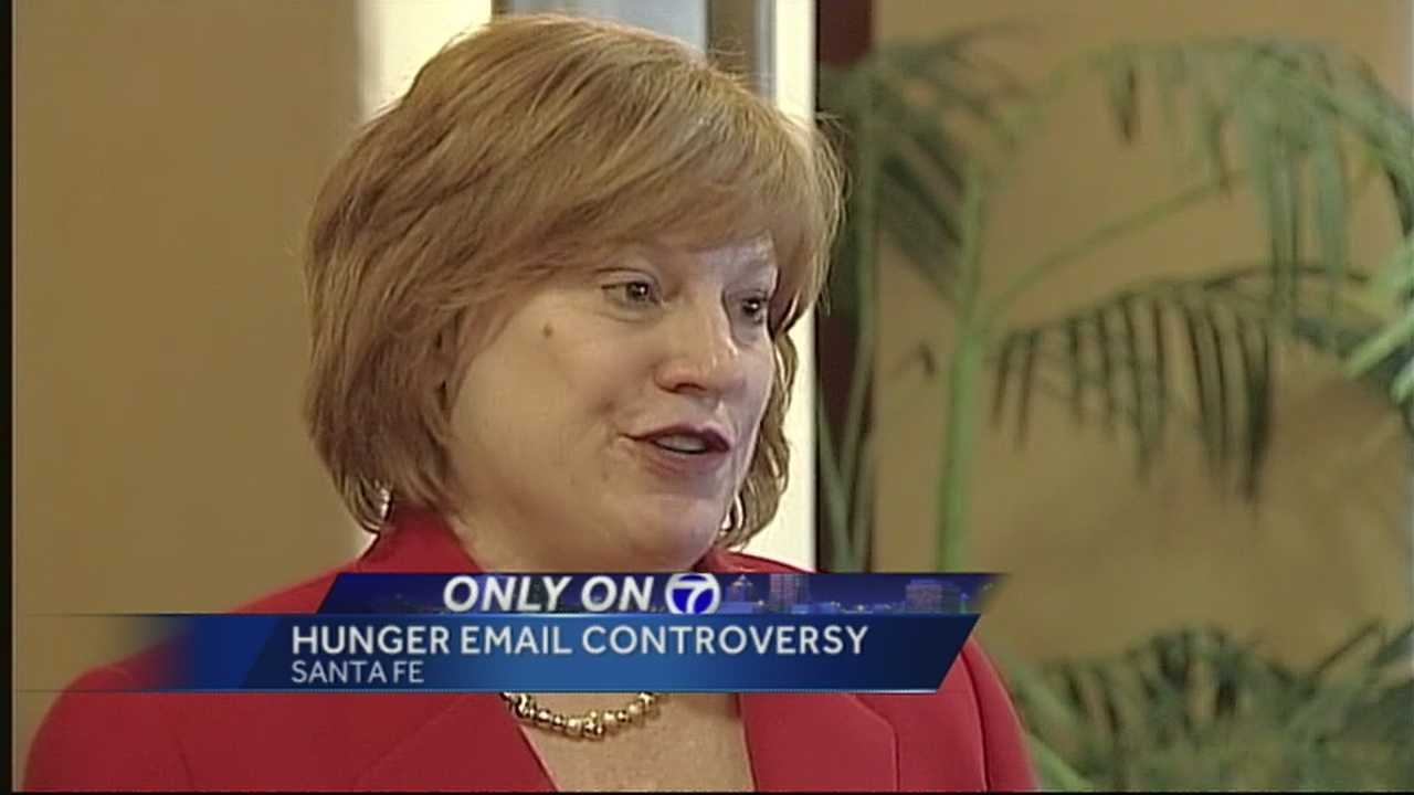 Hunger not a problem in NM, email stated