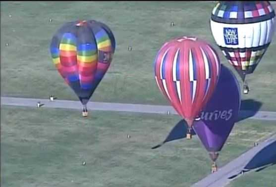 Flying conditions were nearly ideal Monday, as hundreds of hot-air balloons took to the sky above Albuquerque.