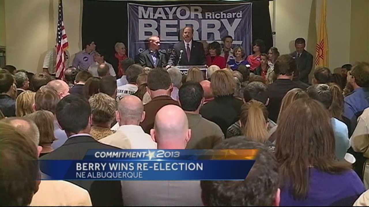 KOAT political analysts declares Mayor Richard Berry has been re-elected.