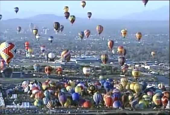 Hundreds of balloons to the sky Wednesday for the Flight of the Nations Mass Ascension.