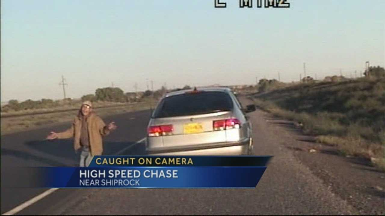 An early morning DWI sting turned into a high speed chase on U.S. 64 near Shiprock with speeds topping 90 mph.