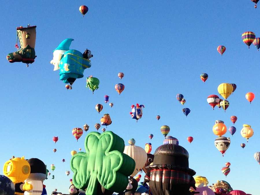 Hundreds of hot-air balloons took the sky Friday for the Special Shapes Rodeo.