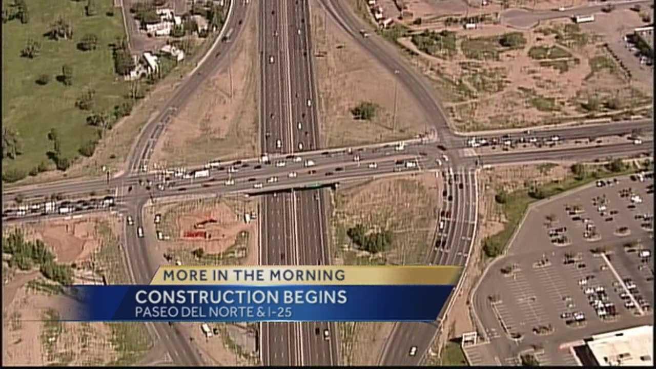 Paseo Del Norte & I-25 Construction Begins