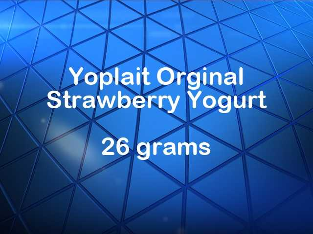 Yoplait original strawberry yogurt has 26 grams of sugar.