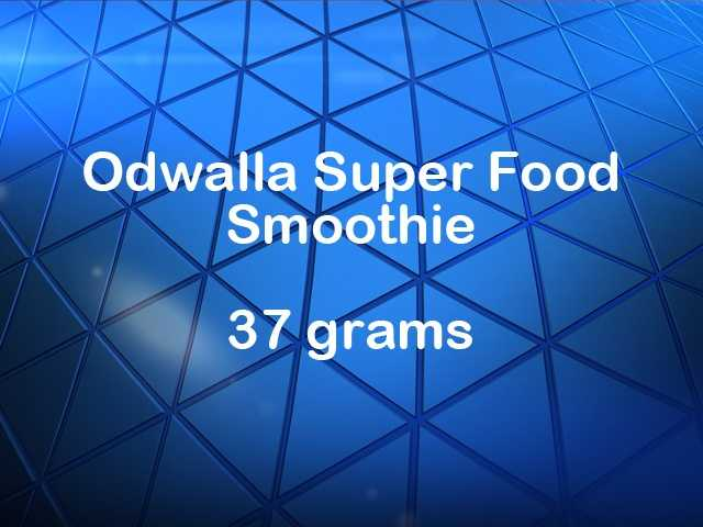 Odwalla Super Food smoothie has 37 grams of sugar.