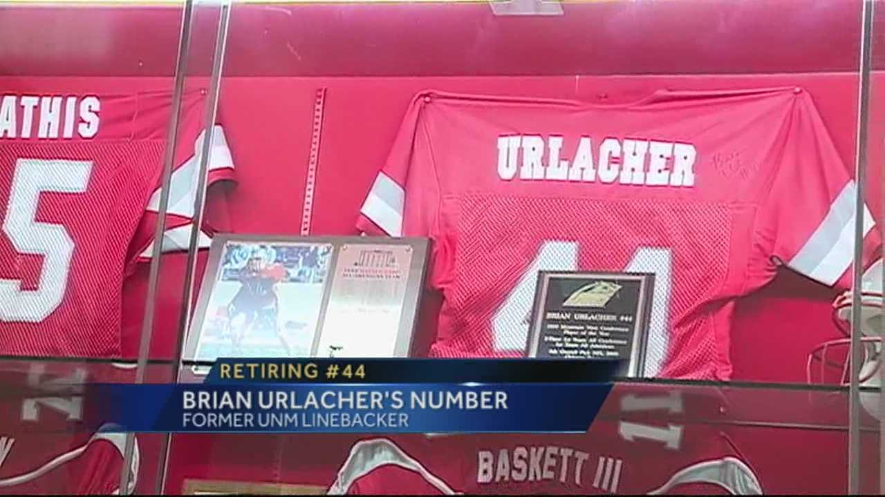 Two weeks ago, the university said it would retire former lobo and Chicago Bear Brian Urlacher's jersey.