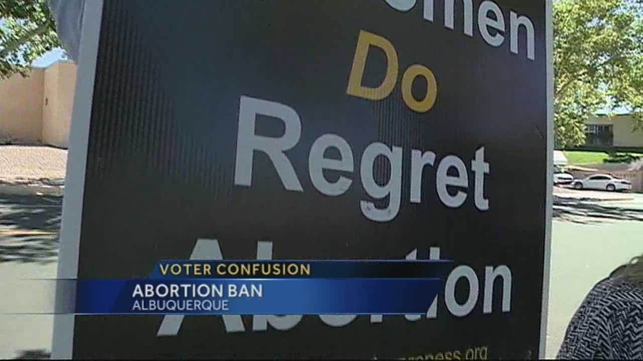 New concerns tonight, involving Albuquerque residents voting on a proposal to ban late-term abortions.