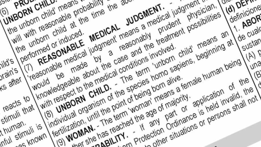 The lengthy ballot includes an explanation of the arguments in favor of the ban, the terms of the law itself, and definitions of key terms that appear throughout the ballot.