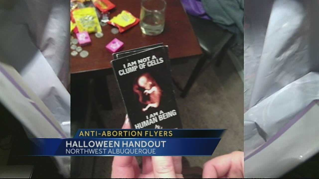 Some children brought home chocolate, others anti-abortion messages