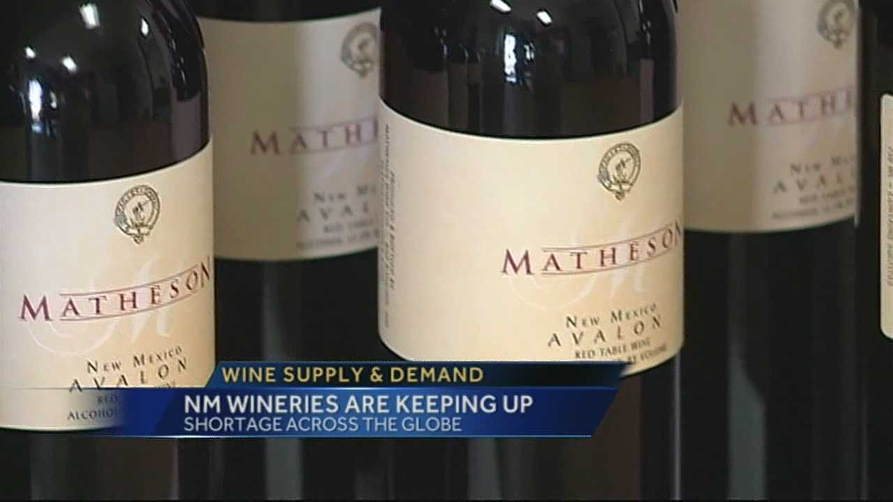 A newly released report suggests we're heading towards a national wine shortage.