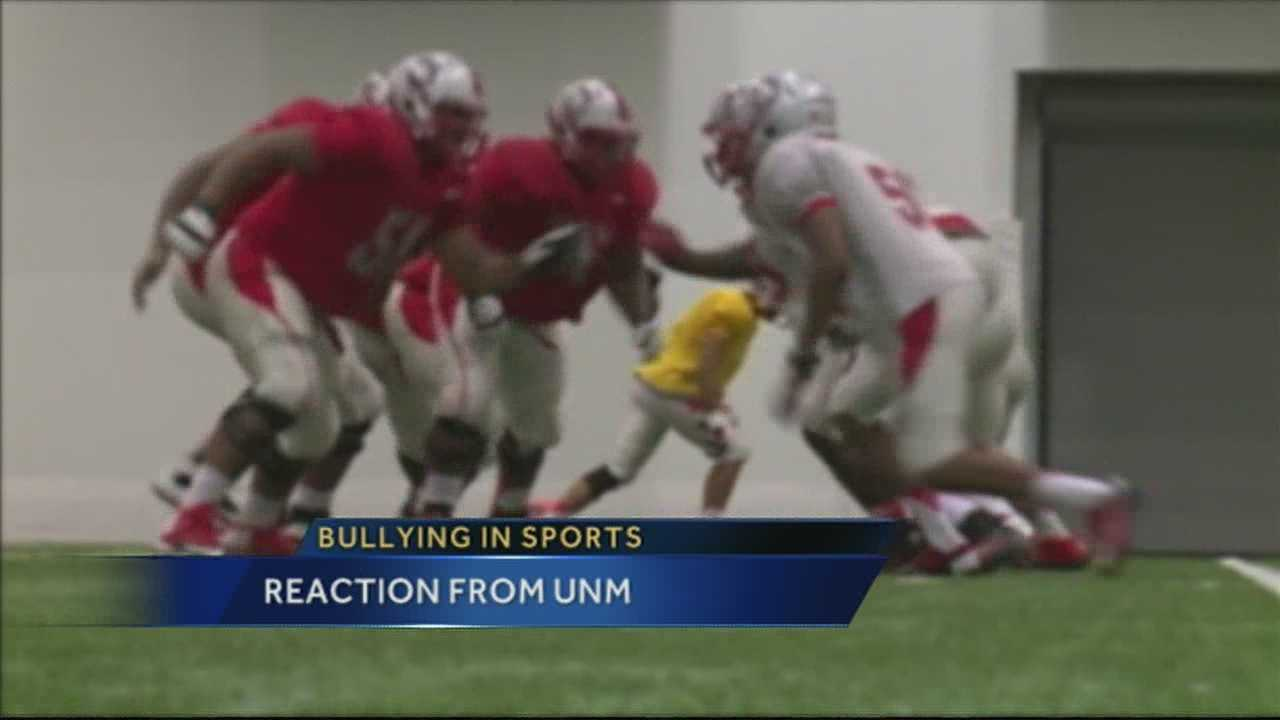 A lobo coach not surprised by the Miami Dolphins' bullying story.