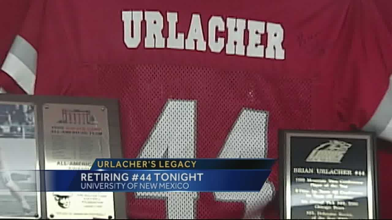 The jersey will be retired during Friday night's game against Air Force.