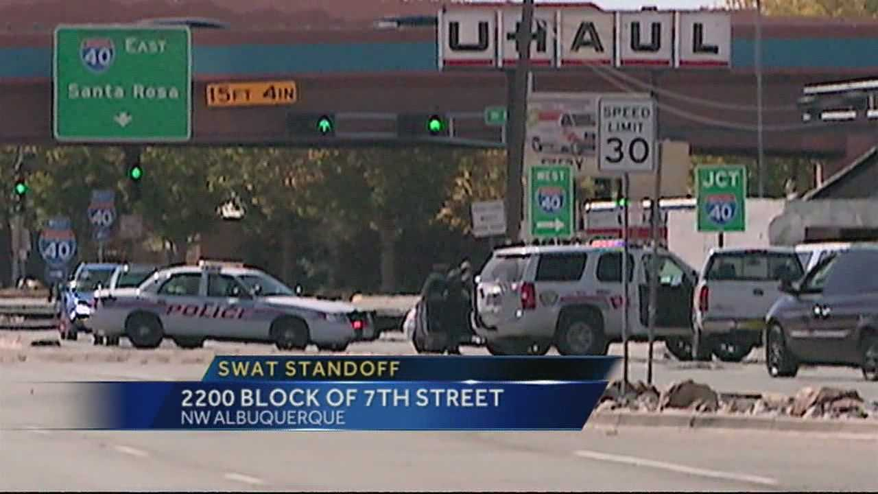 Albuquerque police SWAT officers spent several hours Saturday in a standoff with a man threatening suicide.