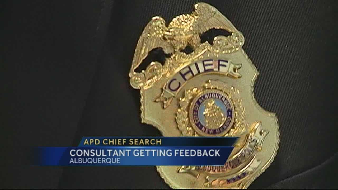 Consultant Helping in Search for New APD Chief