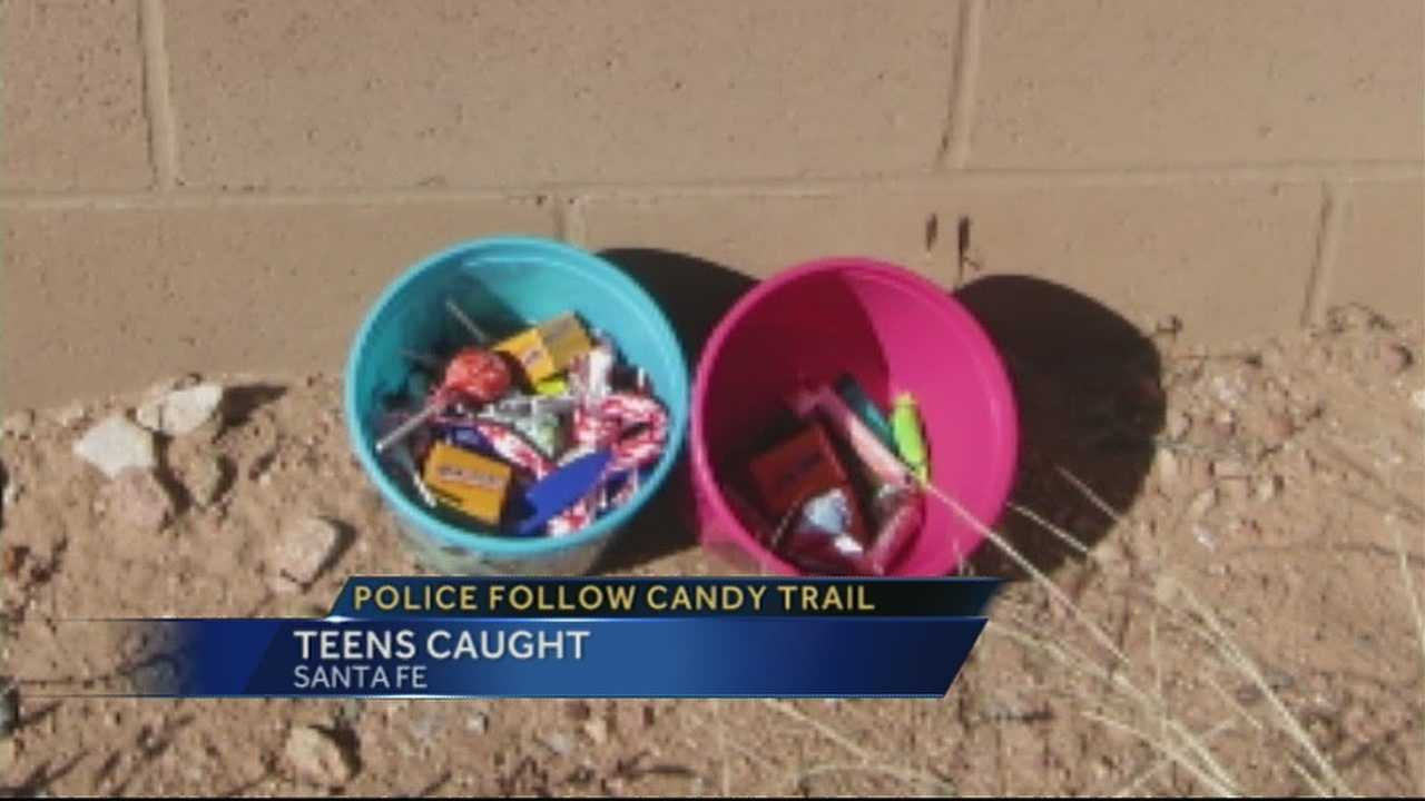 Police: Thieves left trail of candy