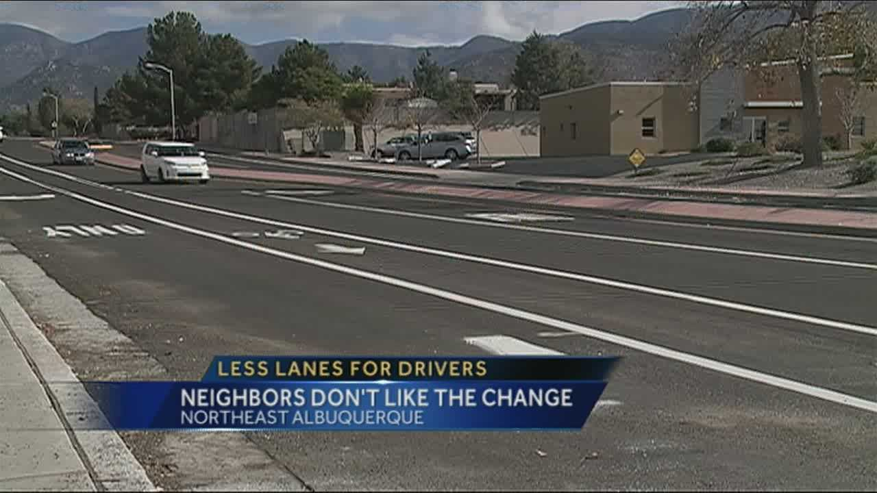 The city has cut the two lane road down to one in each direction, and some people aren't happy.
