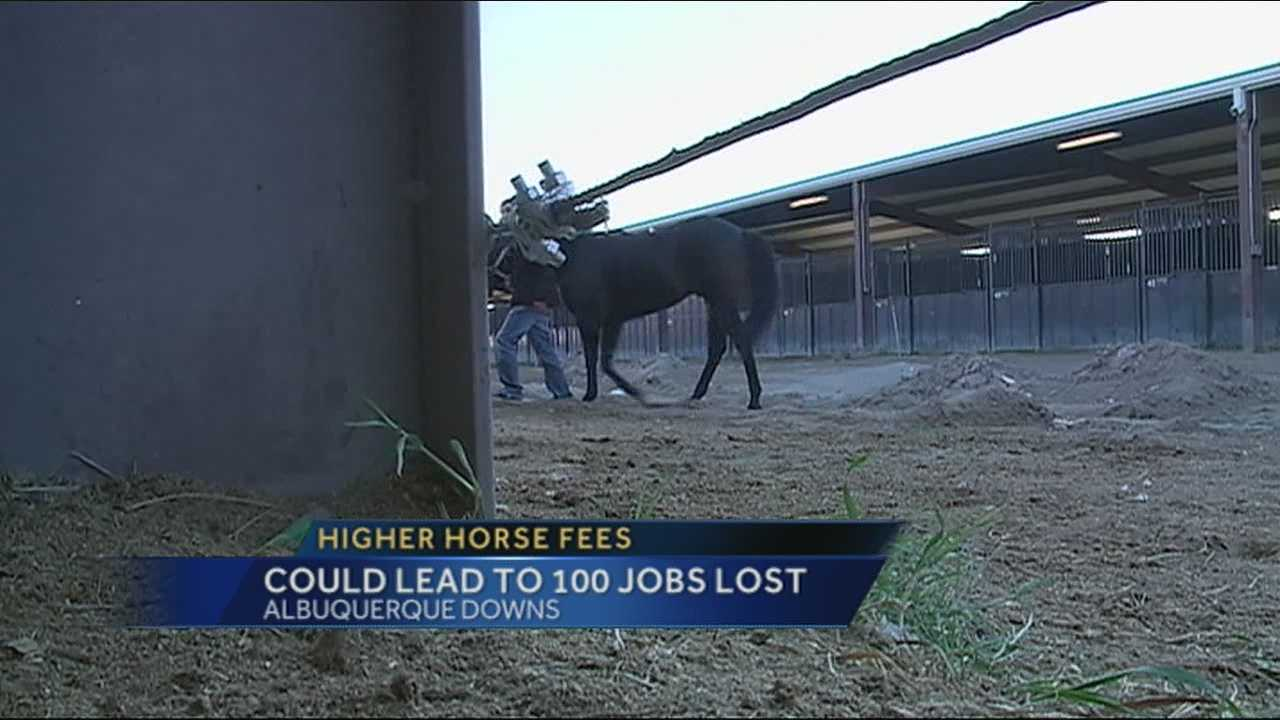 A hundred jobs or more could be lost after the Albuquerque downs increased the cost to rent its stables.