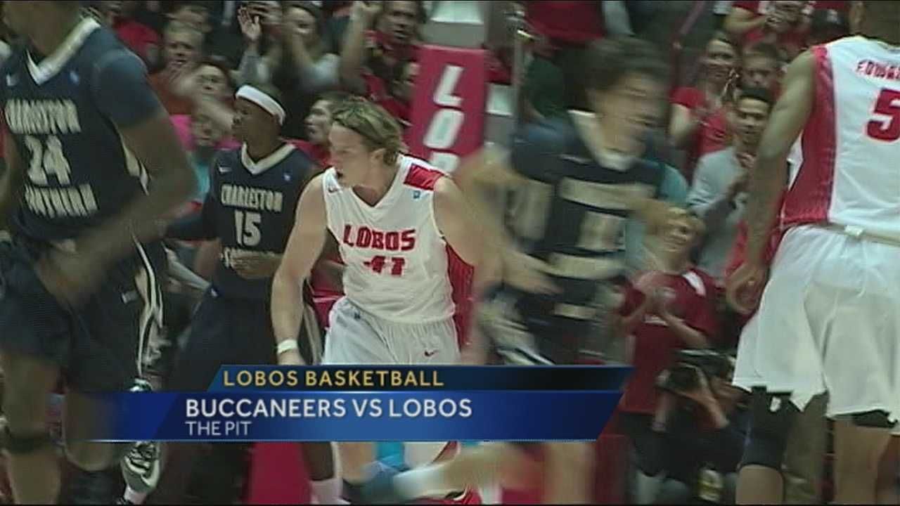 The New Mexico Lobos men's basketball team improved to 2-0 on the season, outscoring Charleston Southern 109-93 Sunday at The Pit.