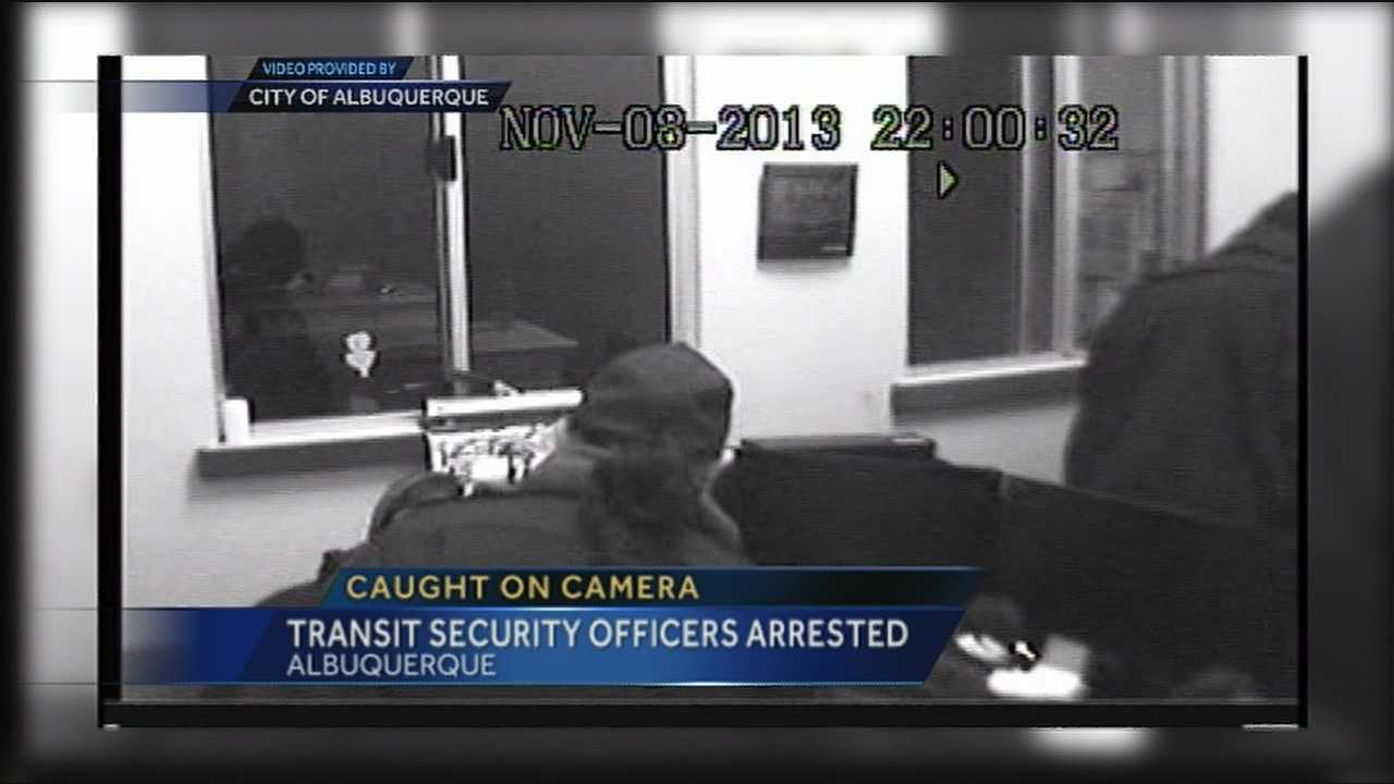 New details in the case of four Albuquerque transit security officers who were suspected of burglarizing a co-workers office.