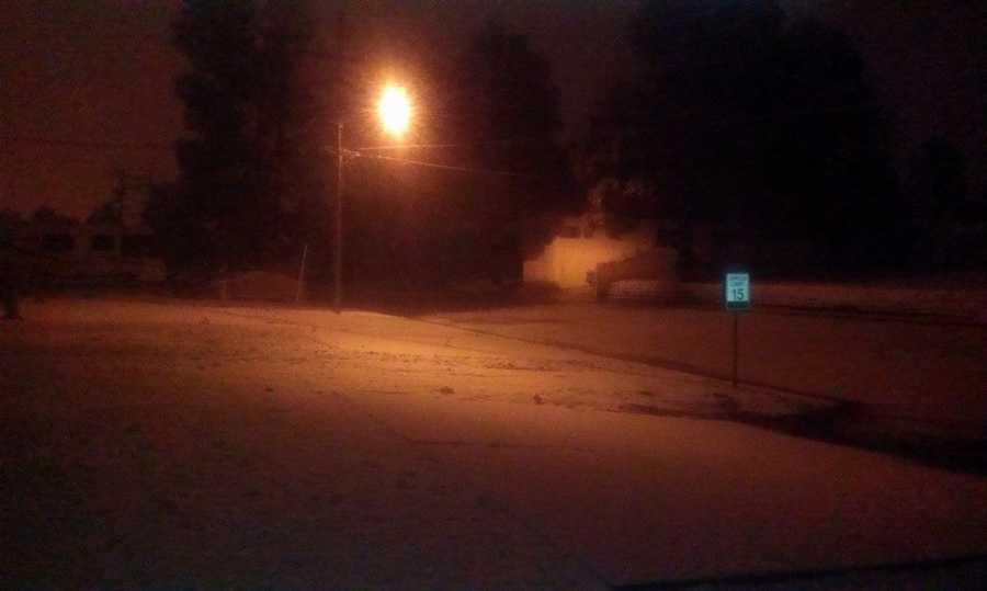 Snow in Los Alamos since 12 a.m.
