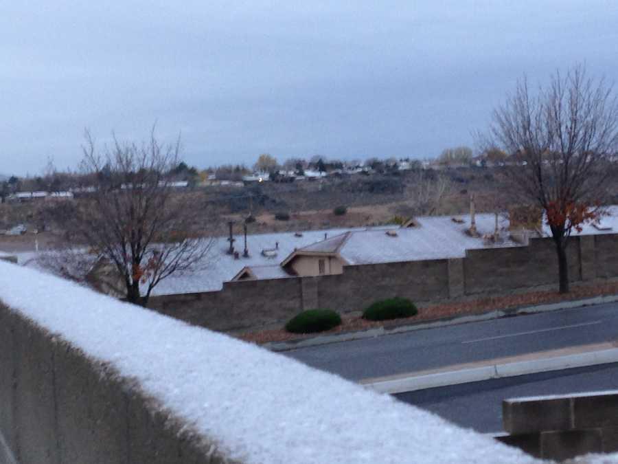 Finally snow in Albuquerque