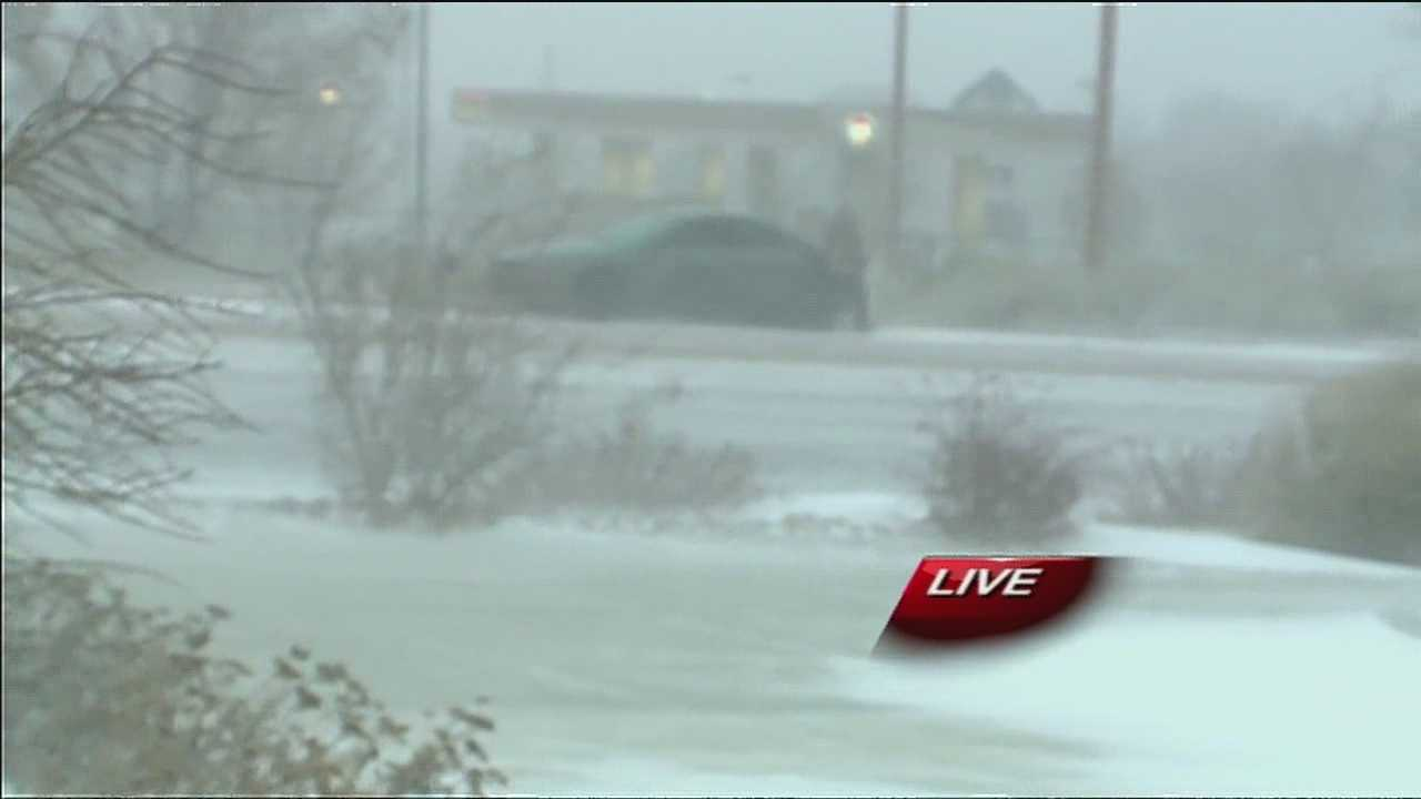 Overnight blowing snows and freezing temperatures have made slick and icy road conditions in the Albuquerque metro area.