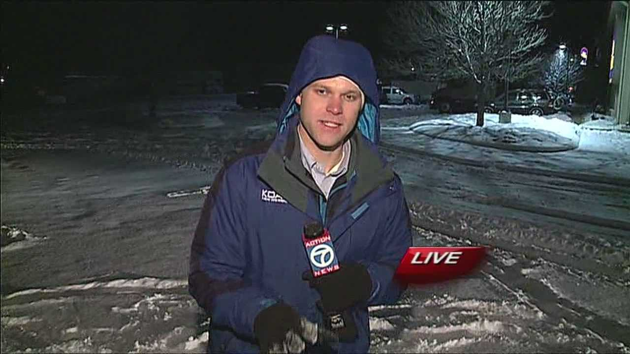 Reporter Mike Springer shows us the weather conditions in Moriarty.